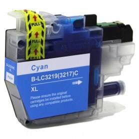 Brother LC3217C y LC3219C Cian cartucho sustituto, reemplaza al LC-3217C y LC-3219C