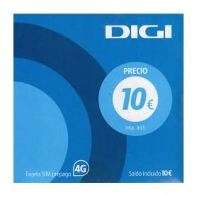 Tarjeta SIM Digi con 10 € PREPAGO