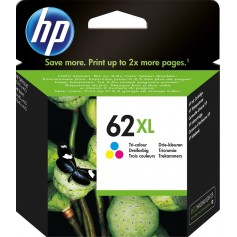 HP 62XL Color cartucho ORIGINAL, C2P07AE