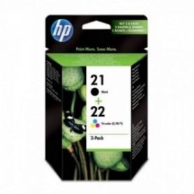 HP SD367AE 21-22 Cartucho de Tinta Original, 2 unidades, negro y tricolor cian, magenta, amarillo
