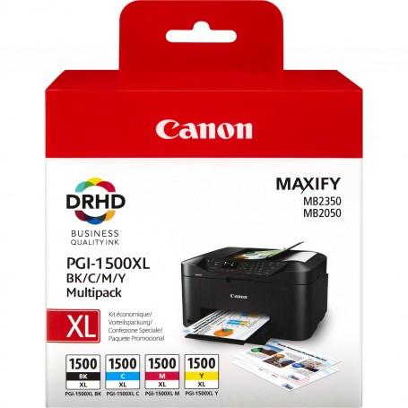 Canon PGI1500XL Pack de 4 Cartuchos de Tinta Originales - 9182B004