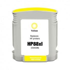 HP 88XL Amarillo cartucho compatible, reemplaza al C9393AE, 28ml de capacidad