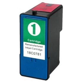 Lexmark 1 Color cartucho compatible, reemplaza al Nº 1 18C0781E