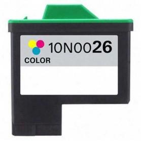 Cartucho remanufacturado Color Lexmark 26, reemplaza al Nº 26