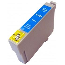 EPSON 0802 Cyan cartucho sustituto, reemplaza al T0802