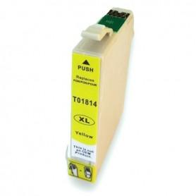 EPSON 1814 Amarillo cartucho sustituto, reemplaza al T1814 y T1804 de 12ml de capacidad 18XL