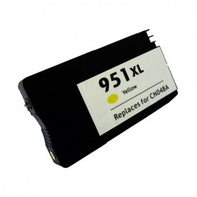 HP 951XL Amarillo cartucho remanufacturado, reemplaza al CN048AE