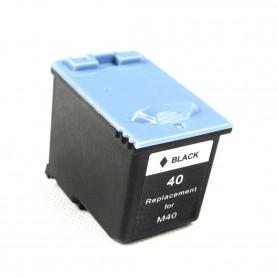 M40 Negro cartucho remanufacturado, reemplaza al INK-M40, 15ml de capacidad
