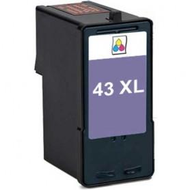 Lexmark 43XL Color cartucho sustituto, reemplaza al Nº 43XL 18YX143E