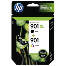 HP PACK AHORRO 901XL Negro y 901 Tricolor, Cartuchos ORIGINALES SD519AE